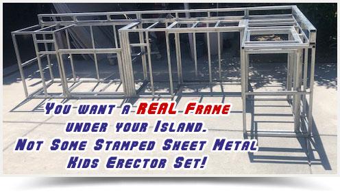 Structural Steel Frame BBQ Island