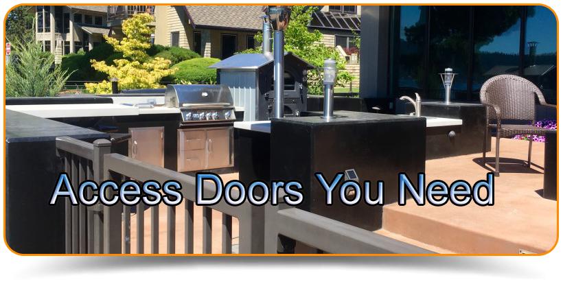 Outdoor Kitchen Doors - Access Doors You Need