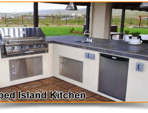 L-shaped Island Kitchen