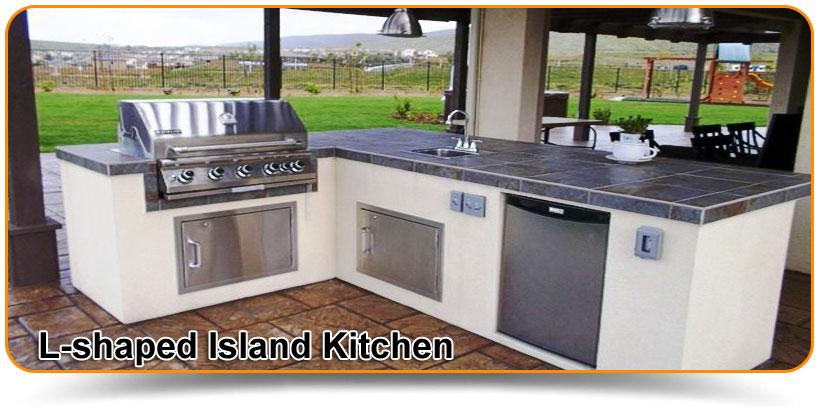 L-shaped Island Kitchen